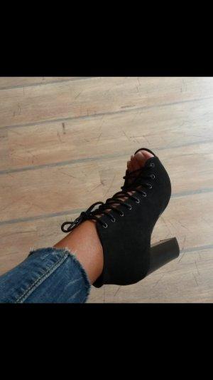 schöne Schuhe /stiefeletten mit schnüren neu!