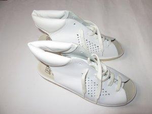 Schöne Schuhe Vintage weiß Retro mit Absatz Gr 42