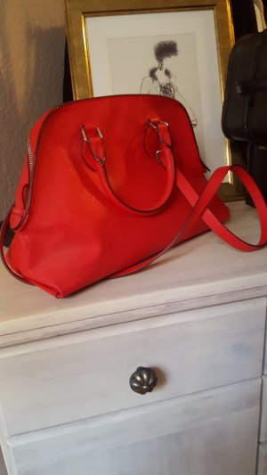Zara Bag red-silver-colored