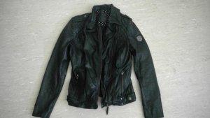 schöne schwarz Lederjacke