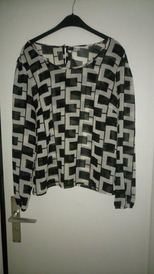 schöne schwarz weiß Bluse