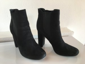 Low boot noir-blanc daim