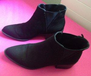 H&M Botas de tobillo negro Poliéster