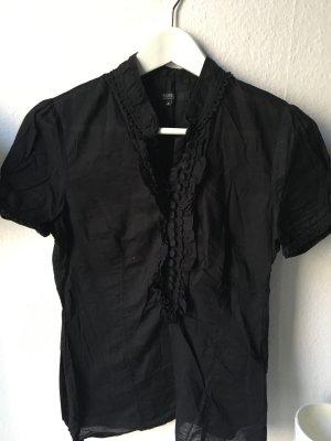 Schöne schwarze Baumwoll Bluse von Hallhuber