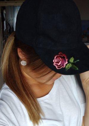 Gorra de béisbol negro-rosa