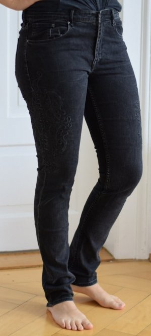 H&M High Waist Jeans black