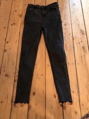 24Colours 7/8 Length Trousers black-grey