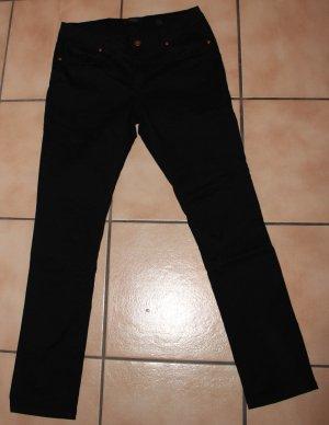 Schöne schwarze Hose mit Muster von Tchibo Gr. 40