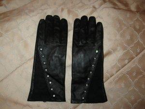 Schöne schwarze Lederhandschuhe, M