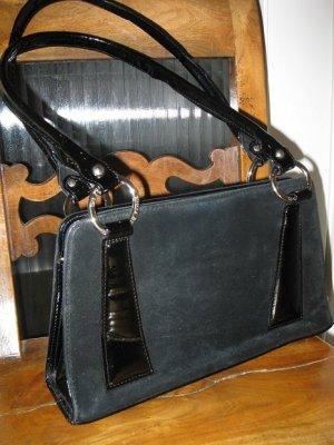 Schöne schwarze Ledertasche, vintage, aber in gutem Zustand, Made in Italy
