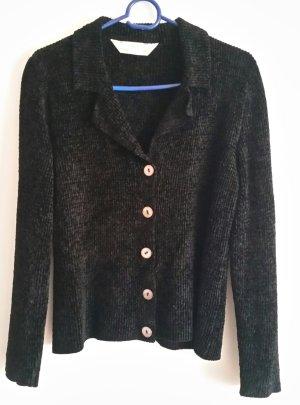 Schöne schwarze Marks&Spencer Samt Jacke Gr. 40