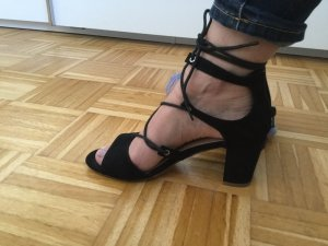 JustFab High-Heeled Sandals black
