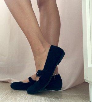Schöne schwarze schlichte Ballerinas von Paul Green