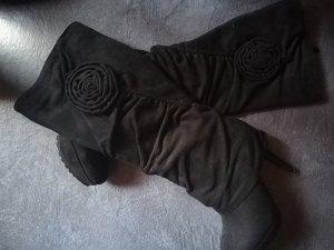 schöne schwarze Stiefel wie neu gr. 35