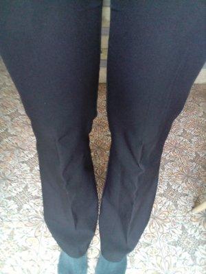 Pantalon pattes d'éléphant noir polyester
