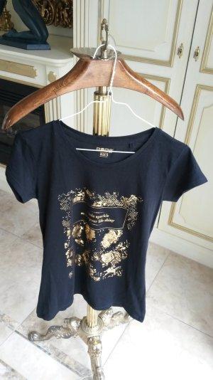 schöne schwarze t-shirt GoldSchrift Neu!!