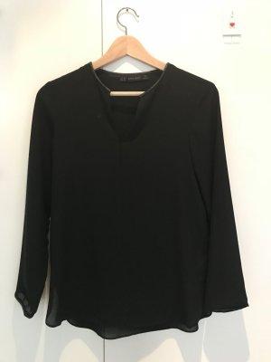 Schöne schwarze Zara Bluse