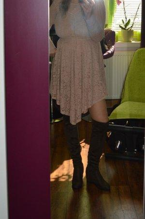 Schöne sexy Overknie Stiefel in so khaki Neu nicht getragen 39 Top