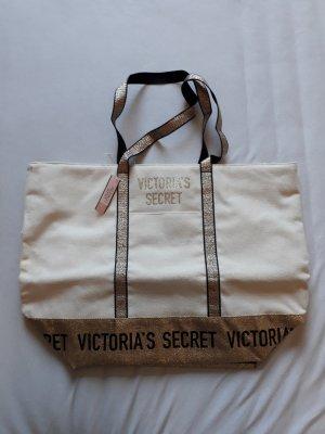 Victoria's Secret Stoffen tas goud-licht beige
