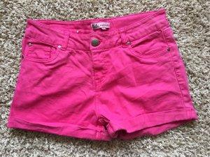 Pantaloncino di jeans rosa