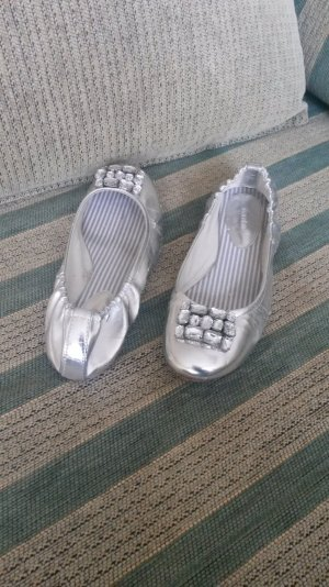 schöne Silber farbige Ballerinas!