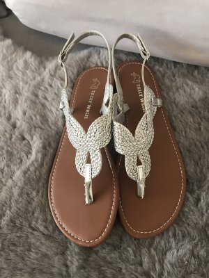 Tally Weijl Toe-Post sandals silver-colored-brown