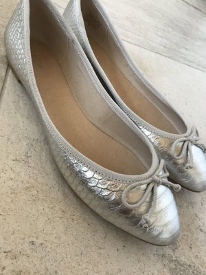 Ballerinas with Toecap silver-colored