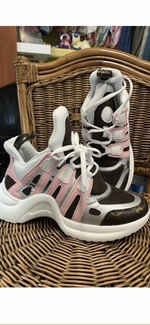 Wedge Sneaker beige-white