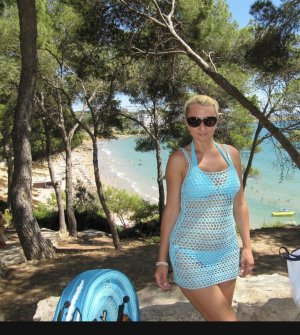 H&M Beachwear light blue