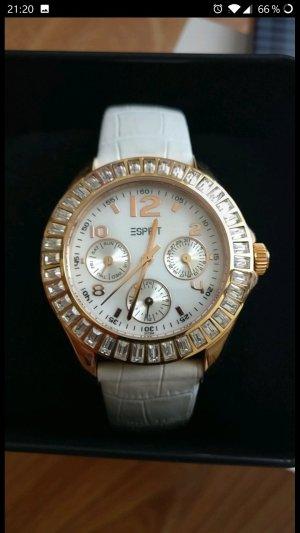 Schöne Sommer Uhr von Esprit,Roségold,Weiß