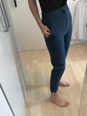 Prego Pantalon 7/8 bleu acier rayonne