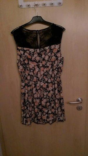 schöne Sommerkleidchen mit buntem Blumenmuster, Größe 42, wie neu!!!