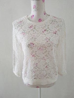 Schöne Spitze Pullover von H&M  Gr M