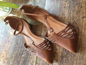 Bronx Sandalo con cinturino e tacco alto cognac