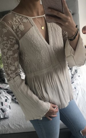 American Eagle Outfitters Lace Blouse cream