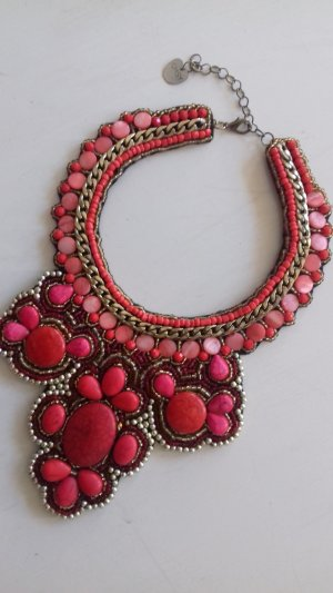 Statement Necklace red-gold-colored