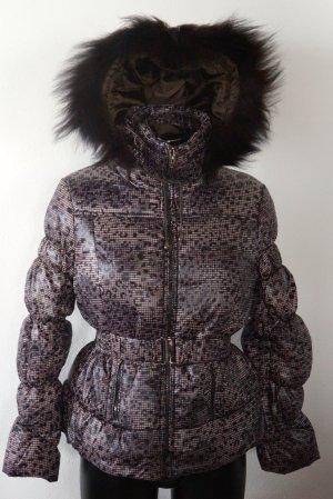 Schöne Stepp -Jacke von Just Addict im tollen Leo Look - Größe L