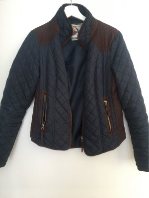 New Look Quilted Jacket black brown-dark blue