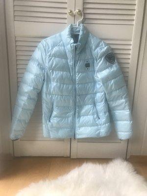 Veste matelassée bleu clair-argenté nylon
