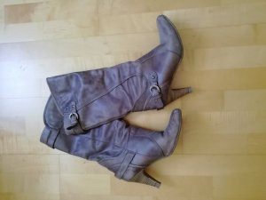 Görtz Shoes Heel Boots light brown leather