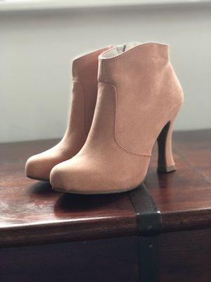 Tamaris Zipper Booties pink