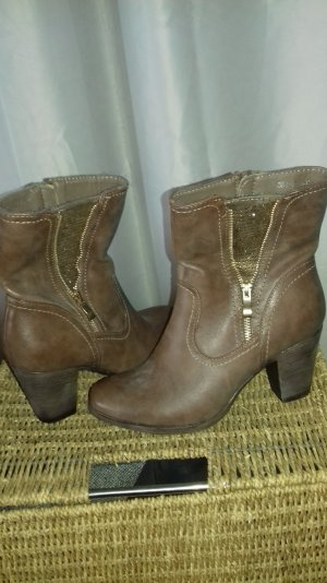 Western Booties gold-colored-cognac-coloured