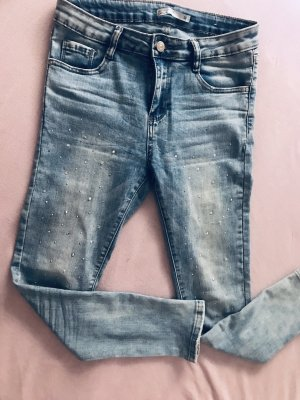 Pantalón de pinza alto azul celeste