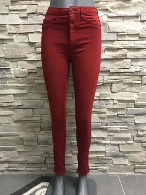 denim deluxe Stretch jeans donkerrood