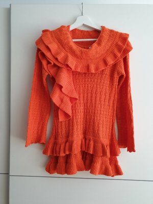 Knitted Twin Set orange cotton