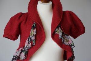 Bolero lavorato a maglia multicolore Lana