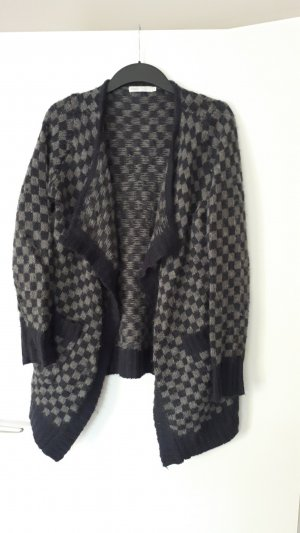 Only Knitted Coat grey-dark blue