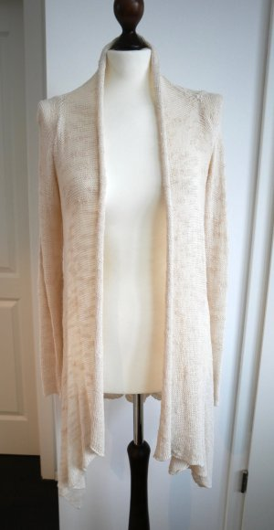 Schöne Strickjacke in creme von Zara Gr. M