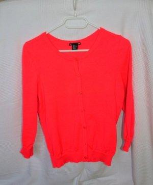 H&M Gebreide blazer roze-neonroos