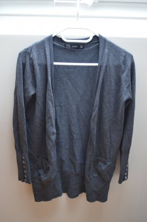 Zara Veste en tricot gris anthracite rayonne